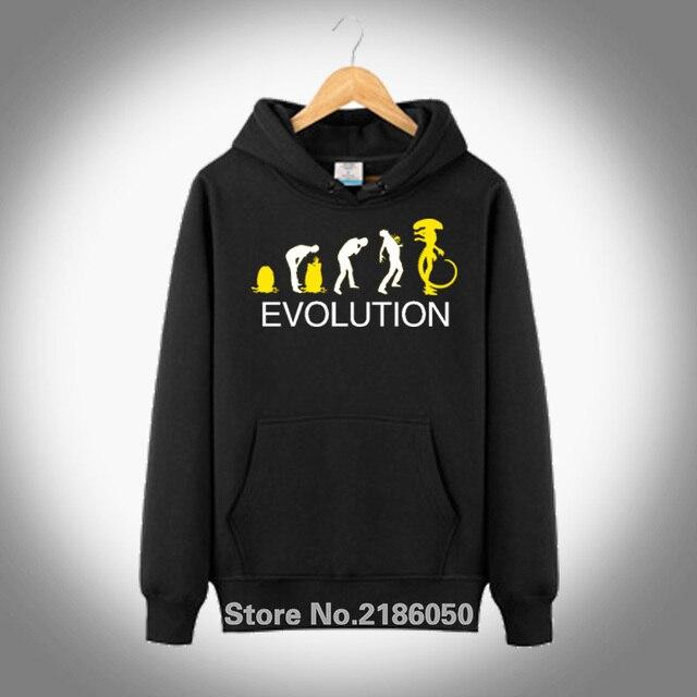 New Funny Lien Evolution Costume Alien Vs Predator Men s Cotton Design Mens  Hoodied Pullover Hoodie Coat 26bd8e2da