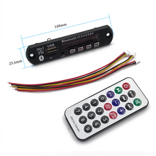 Car Digital Wireless Bluetooth MP3 Player 12V Decoder Board Panel Support FM Radio USB TF AUX Remote Display Memory Function