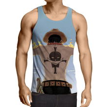 One Piece Anime Mens Vest Tank Tops Camiseta Sin Mangas Hombre Casual Sleeveless Undershirts Summer Cool Slim Clothing Tee R2971