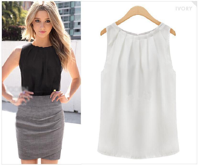 t-shirt Women 2020 AliExpress New summer tshirt fashion Sleeveless Round Neck Chiffon Shirt cheap cloth Korean Vestidos HJY1006(China)