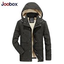 JOOBOX Marca 2017 Hombres Chaqueta de Invierno Cálido Abrigo Grueso Sombrero Desmontable Parkas Para Hombre Con Capucha de Algodón Outwear jaqueta masculina invernos