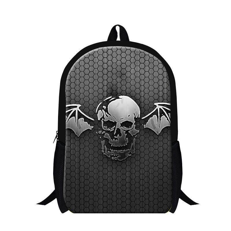 Dispalang cópia do crânio sacos de escola para os meninos mais recente moda  escola Bookbags mochilas Legal para a juventude crianças mochila Bagpack  Menina f86431ee51e