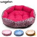 Vendas Hot! NOVO! estampa de Leopardo colorido Cat and Dog Pet cama Rosa, azul, marrom amarelado, profundamente rosa, TAMANHO M, L
