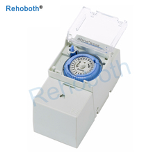 Hot SUL181H Mechanical Timer 24 hours Time Switch Relay Electrical Programmable Din Rail Control