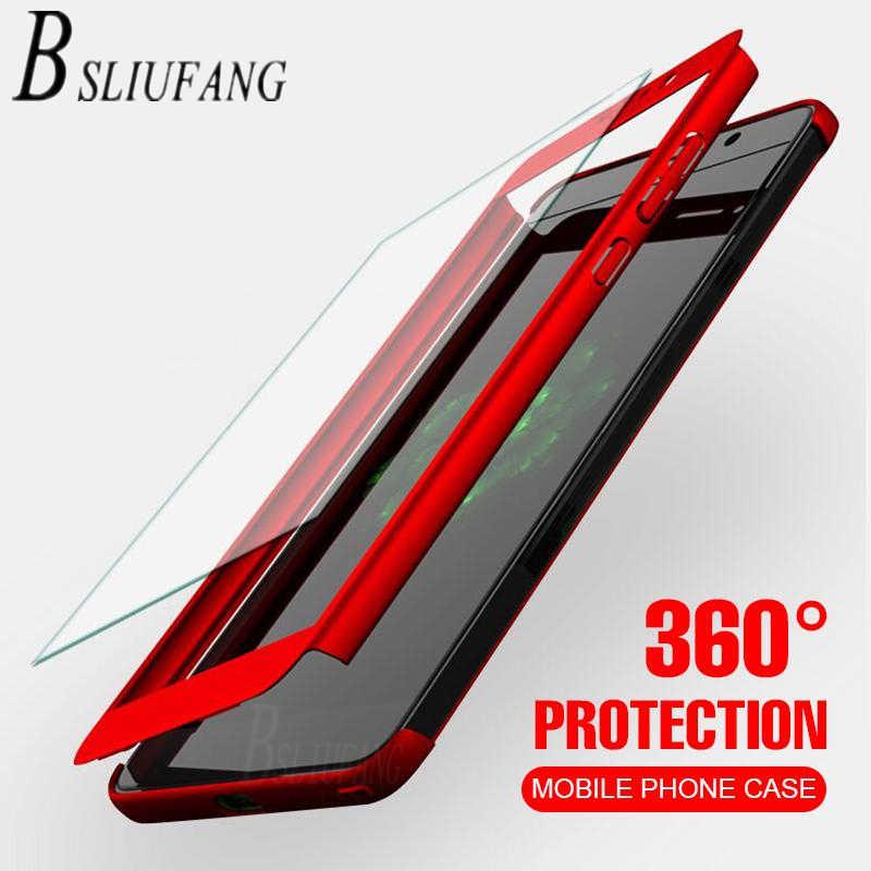 BSLIUFANG 360 pełna ochronna obudowa na telefon do Redmi Note 7 4X5 6 Pro pełna pokrywa do Redmi S2 6 6A 4A 5 Plus 5A obudowa ze szkłem