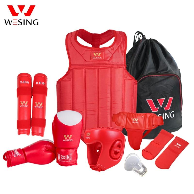 Wesing Martial Arts Gear Wushu Sanda Protector жиынтығы 8 - Спорттық киім мен керек-жарақтар - фото 3