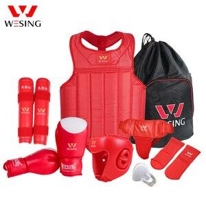 Image 3 - Wesing Martial Arts Gear sets Wushu Sanda Protector Sets 8 Pcs Sanda Competition Equipments for Training