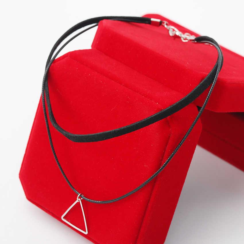 Çok katmanlı Gerdanlık Kolye Kadınlar için Üçgen Geometrik Kolye Kolye Collares moda takı Bijoux