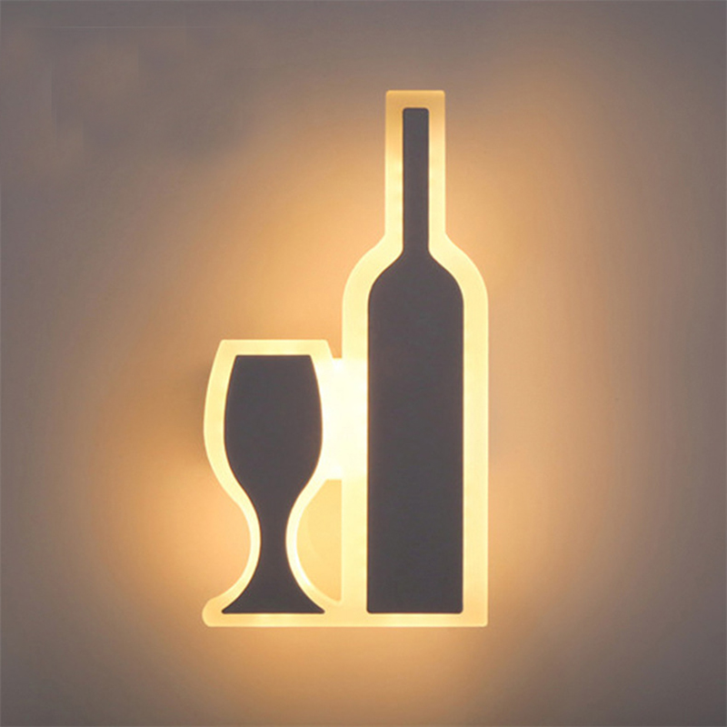 Modern led acrylic wall light for living room bedroom wall Lighting wall lamp front Sconces AC90-265V Decoration Sconce Light new led wall light creative footprint dimming lamp for bedroom dining room lamp acrylic circular sitting room lighting
