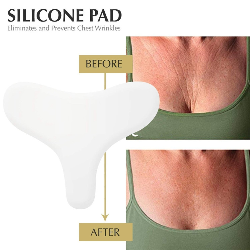 Anti Wrinkle Chest Pad Prevent Chest Wrinkle Neckline Pad Reusable Grade Silicone Invisible Chest Pad