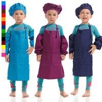 子供シェフ制服セット食品サービス帽子手袋クッキングエプロン用子供キッチンコスプレハロウィンパーティー衣装