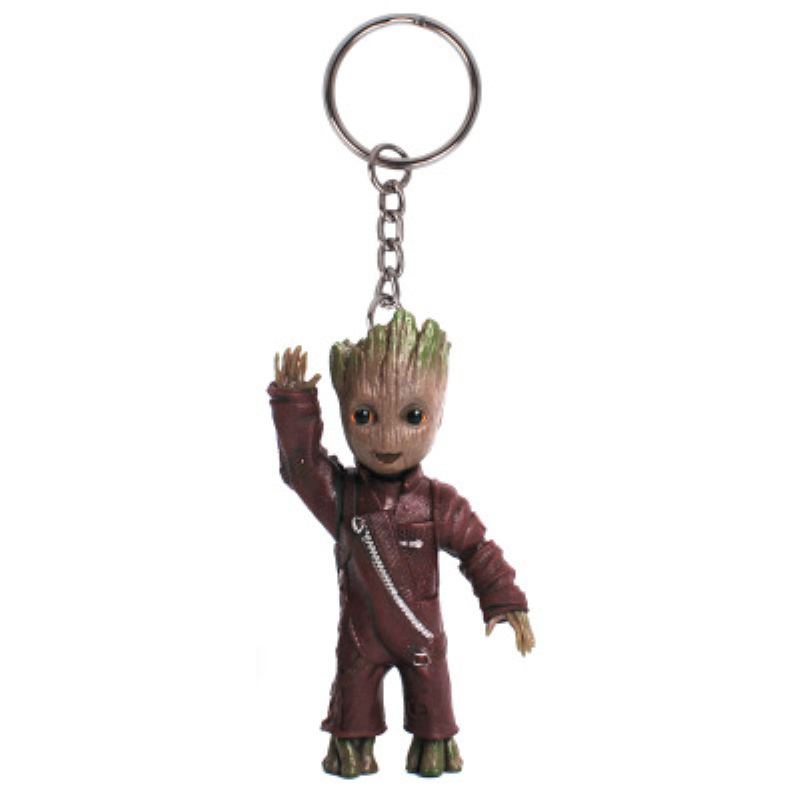 7.5cm Guardians Of The Galaxy Groot Middle Finger Version Keychain Key Rings
