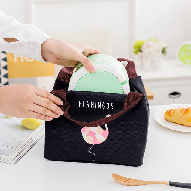 Flamingo Printed Waterproof Insulation Bag