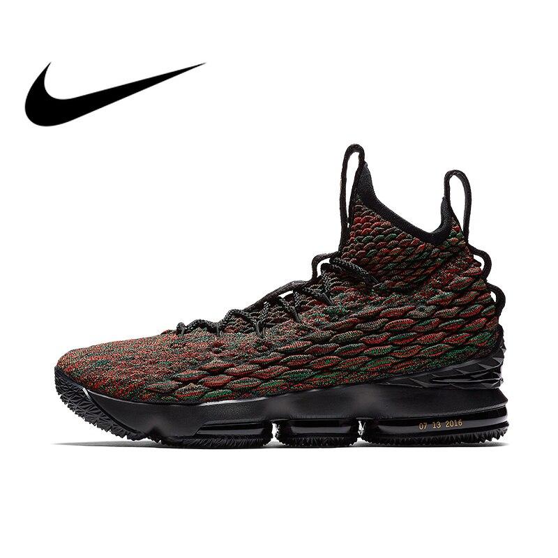 Original authentique Nike LEBRON XV LMTD EP hommes chaussures baskets coupe moyenne AA3857 marche en plein air Jogging athlétique respirant