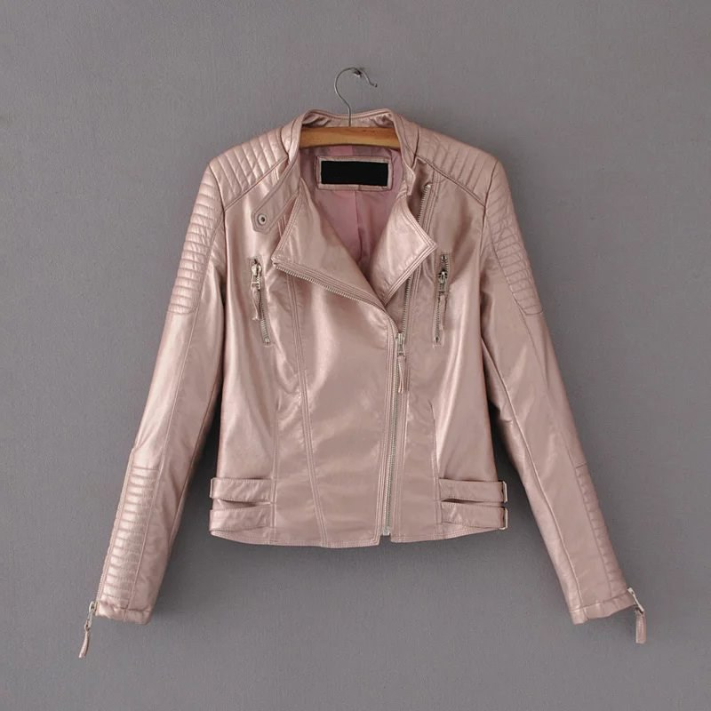 Spring Autumn Fashion Bright Colors Ladies   Suede   Jacket Basic Street Women Jacket Short PU   Leather   Coat