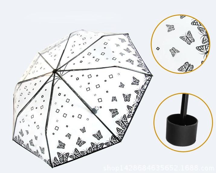 투명 플라스틱 PVC 나비 장미 꽃 패션 맑은 비오는 - 가정 용품 - 사진 4
