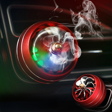 Car Air Freshener Fragrance Perfume Clip LED RGB Light Smell Outlet Ve