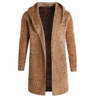 Casual Mens Sweater Outerwear 5XL Men Knit Wool Sweater Cloak Coats Spring Man's Dress Sweaters Hooded Clothing Brand Men A391