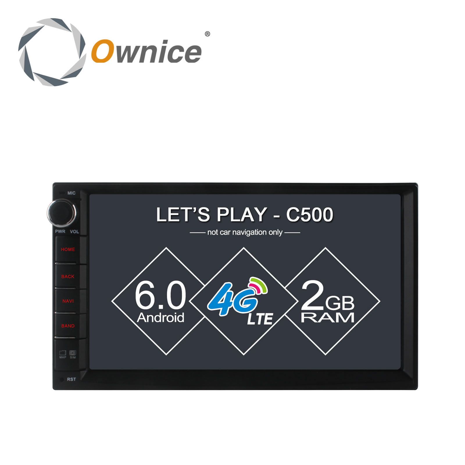 Ownice C500 7 1024*600 Android 6.0 quad core Radio 2 din universal car radio Player GPS no dvd support 4G LTE Network DAB+ TPMS автомобильный dvd плеер joyous kd 7 800 480 2 din 4 4 gps navi toyota rav4 4 4 dvd dual core rds wifi 3g
