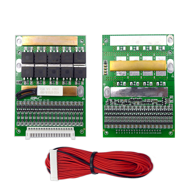 BMS 6S TO 17S 50A 3.2V 3.7V 18650 Lithium Li-ion Battery Balancer 10S 13S 16S Lifepo4 BMS Lipo PCM Balancing Protection Board image
