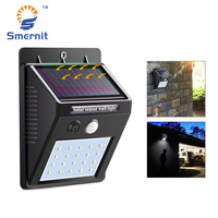 Smernit استشعار الحركة الشمسية ضوء 20 المصابيح الشمسية أضواء حديقة للماء الجدار ضوء الشرفة yart المسار الإضاءة