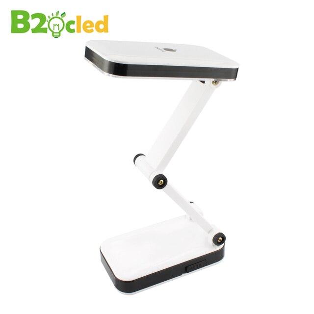 Fashion foldable rechargeable 24 led desk lamp light 90-260v adjustable light eu us plug reading lamp for student eye protection