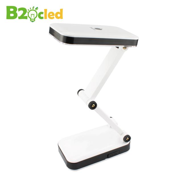 Moda dobrável recarregável 24 led desk lamp light 90-260 v ue eua plug lâmpada de leitura de luz ajustável para estudante proteção para os olhos
