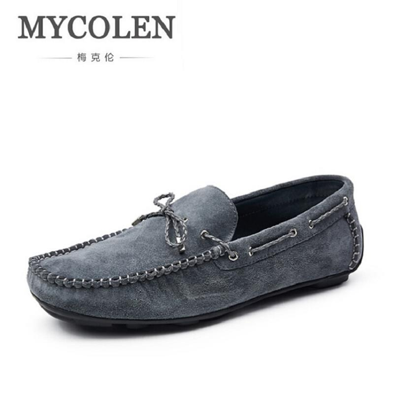 MYCOLEN Brand New Fashion Spring Autumn Men Driving Shoes Loafers Real Leather Boat Shoes Breathable Male Casual Flats sapato spring autumn fashion men high top shoes genuine leather breathable casual shoes male loafers youth sneakers flats 3a
