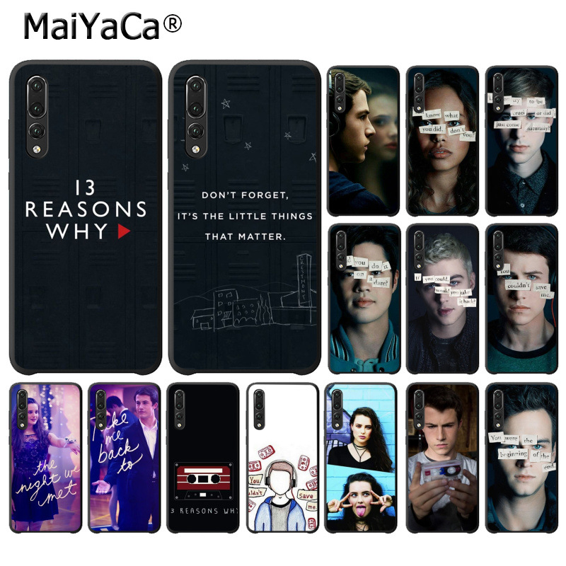 MaiYaCa <font><b>13</b></font> <font><b>Reasons</b></font> <font><b>Why</b></font> Soft Rubber black <font><b>Phone</b></font> <font><b>Case</b></font> for Huawei P10 plus 20 pro P20 lite mate9 10 lite honor 10 view10 back <font><b>case</b></font> image