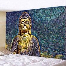 Colored 3D Buddha Statue Printed Large Wall Tapestry Cheap Hippie Wall Hanging Bohemian Wall Tapestries Mandala Wall Art Decor