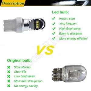 Image 4 - 2x LED Auto Lichter T20 7443 W21/5 W 7440 W21W WY21W XBD 30W Automobile Auto Licht Bremse blinker DRL Birne Lampe Weiß Rot Bernstein