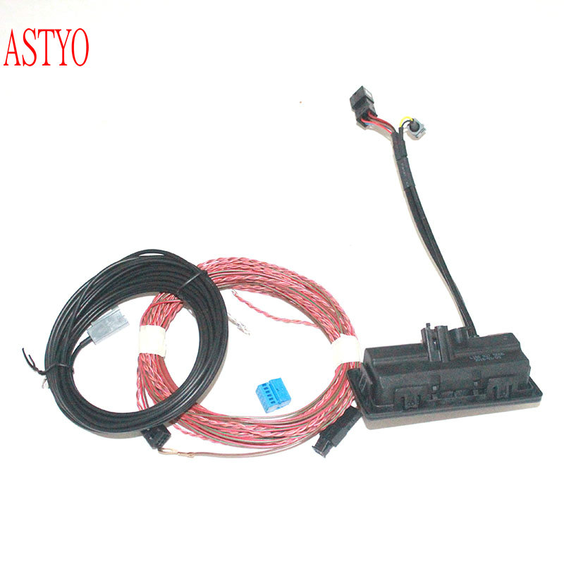 Astyo Car Mqb Mib Rear View Camera Trunk Handle With High Guidance Line Wiring Harness For