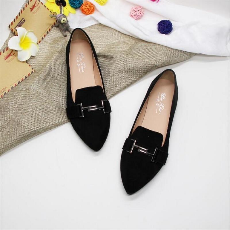 work shoes female black flat shoes
