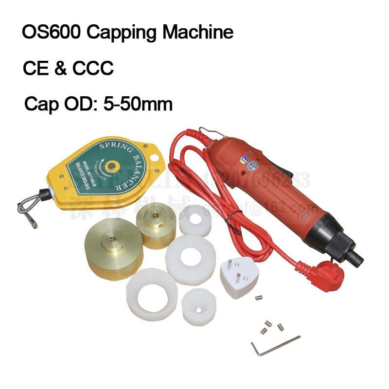SG1550電気ボトルキャッピングマシンハンドヘルドキャッピングマシン手動ボトルケーパーキャッピングマシン110V / 220V 10-50mm 30kg / fcm