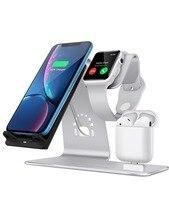Besand 3 в 1 беспроводной зарядное устройство телефон, и для iWatch стенд, для зарядное устройство для Airpods док-станции, настольный телефон планшеты держатель для Airpods,