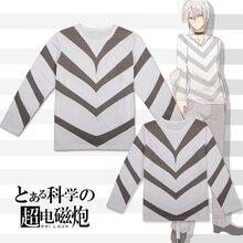 Anime SQUARE ENIX Toaru Kagaku no Railgun Accelerator Cosplay Top sweatshirt long sleeve Summer cotton Tee shirt in stock
