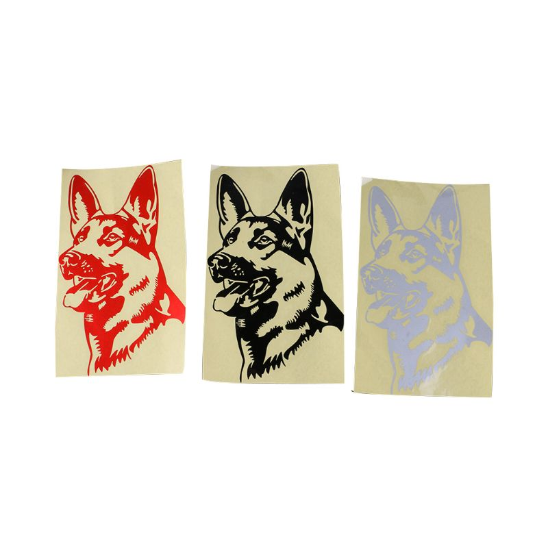 11.6*18.5cm German Shepherd Dog Vinyl Decal Car Stickers Personality Decal Accessories Firm In Structure