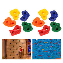 5/10 PCS Rock Climbing Holds Wall Rock Climbing Stones Plastic Backyard Outdoor Indoor Kids Toys with Mounting Hardware Screws(China)