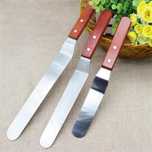6/8/10 inches Stainless Steel Cake Spatula Bakery Baking Butter Cream Icing Knife Kitchen Pastry Cake Decoration Tools(China)