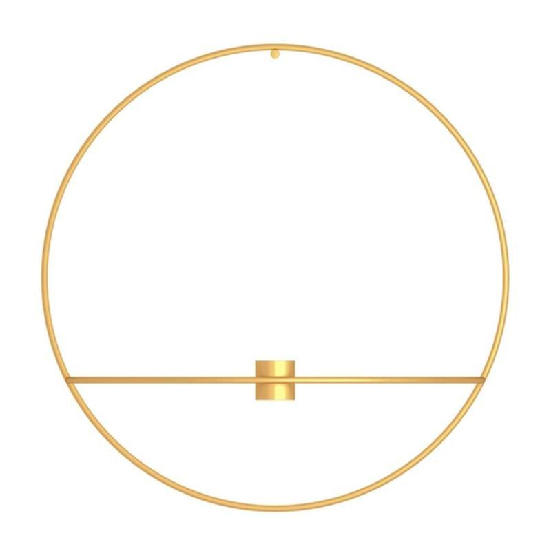 3D металлический подсвечник настенный геометрический Круглый Подсвечник домашний декор геометрический чайный светильник подарок на день Святого Валентина - Цвет: 03