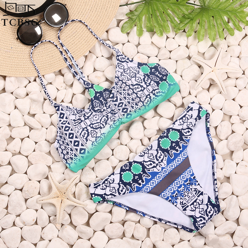 TCBSG Bikinis 2017 Sexy Swimwear Women Swimsuit Push Up Brazilian Bikini set Bandeau Summer Beach Bathing Suits female Biquini bikinis women swimsuit push up swimwear women 2017 new sexy bandeau print brazilian bikini set beach wear bathing suits biquini