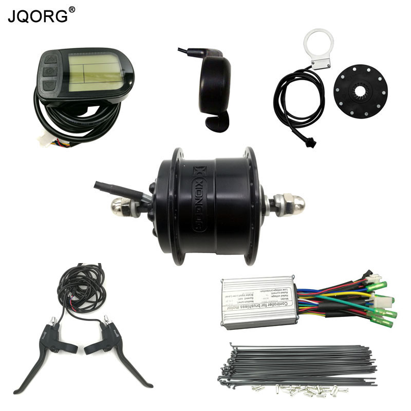 JQORG Cycling Electric Bicycle Parts 36V 250W Front Wheel Drive Brushless DC Geared Hub Motor And Other E-bike Conversion Kits 24v 36v 48v 350w wheel brushless toothless hub motor e bike engine wheel motor scooter motor kit x5