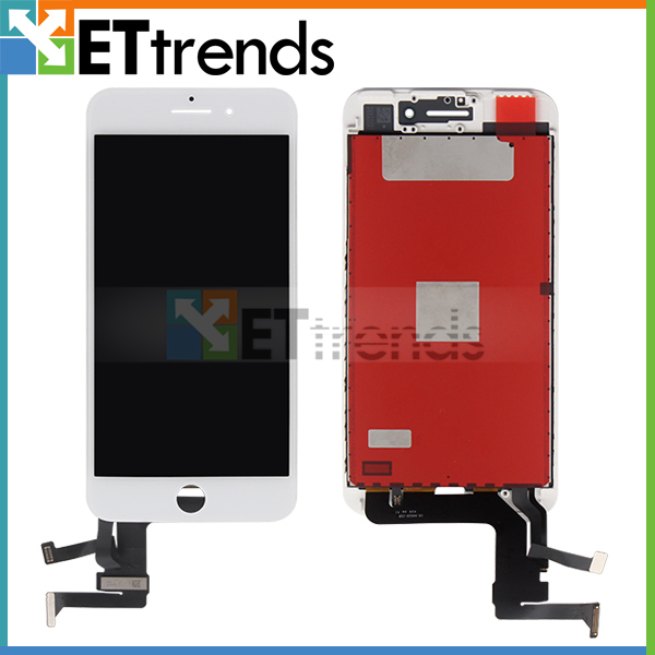 1 Piece 100% Original new LCD Display for iPhone 7 Plus White LCD Screen Digitizer Touch Glass Screen Assembly DHL Free Shipping