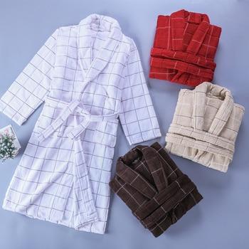 Bathrobe Women Winter Men Robe Thick Long Male Towel Fleece Excellent Pajamas Nightgown Sleepwear Soft bridesmaid kimono robe