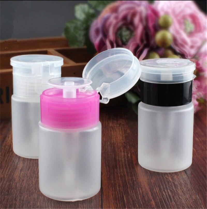 1pcs 60ml Empty Pump Dispenser Nail Polish Liquid Alcohol Remover Cleaner Bottle Nail Art Tools