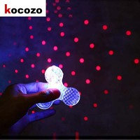 Bluetooth Speaker LED Luminous Projection EDC Hand Spinner Music And Lights Star Projector Fidget Spinner For