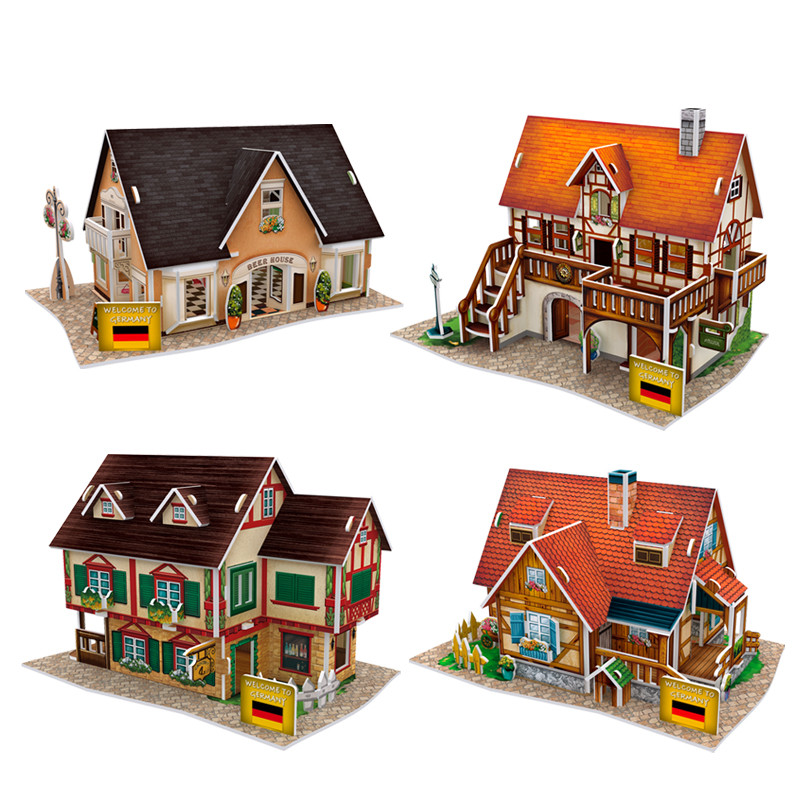 Arts & Crafts, Diy Toys Useful Childrens Diy Graffiti Cardboard Toy Corrugated Paper 3d Puzzle Coloring Assembled Model Childrens Handmade Paper House Toys Excellent Quality Craft Toys