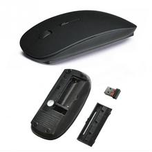 Hot Computer Mouse Mice for Laptop Notebook! Ultra Thin 2.4G Optical Wireless Mouse USB Receiver Air Mouse Cordless