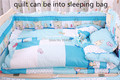 JG Chen Bebê colcha da cama definir 100% de algodão sacos de dormir consolador tampa de cama multifuncional berço quilt para o inverno projeto dos desenhos animados