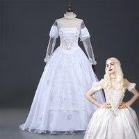Alice In Wonderland The White Queen Cosplay Costume Halloween Costumes For Adult Women Alice In Wonderland Costume Dress